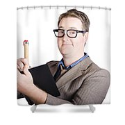 Male Office Pa Writing In Diary. Event Planner Shower Curtain by Jorgo Photography - Wall Art Gallery