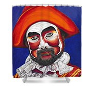 Male Pirate Carnival Figure Shower Curtain