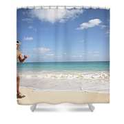 Male Runner Shower Curtain
