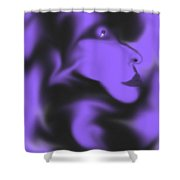 Male Space Face Shower Curtain