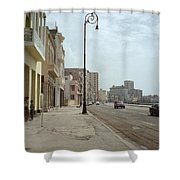 Malecon En Havana Shower Curtain