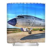 Malev Airlines Tupolev Tu-154 Shower Curtain