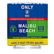 Malibu Beach California Surf Shower Curtain