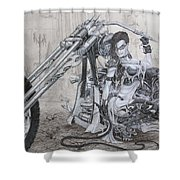 Malice Shower Curtain