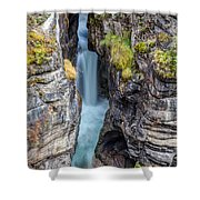 Maligne Canyon Cascades Shower Curtain