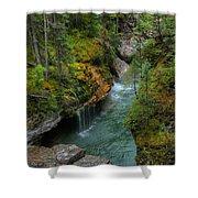 Maligne Canyon Falls Jasper National Park Shower Curtain