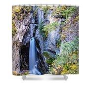 Maligne Canyon Waterfall Shower Curtain
