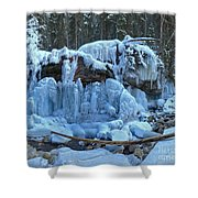 Maligne Canyon Winter Wonders Shower Curtain