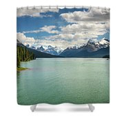 Maligne Lake In Jasper National Park Shower Curtain