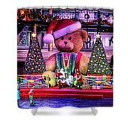 Mall Santa With Child Shower Curtain