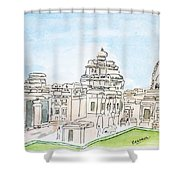 Mallikarjuna Swami Jyotirling Shower Curtain