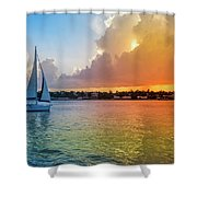 Mallory Square Sunset Celebration Shower Curtain