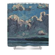 Mallorytown Landing Cumulus Shower Curtain