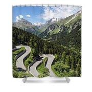 Maloja Pass In Graubunden, Switzerland Shower Curtain