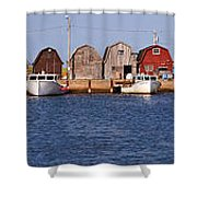 Malpeque Harbour Panorama Shower Curtain