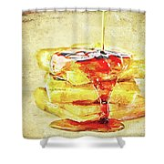 Malt Waffles Shower Curtain