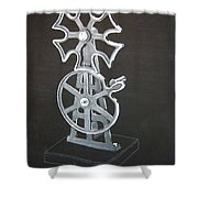 Maltese Cross Gears Shower Curtain