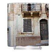 Maltese House On A Steep Street Shower Curtain