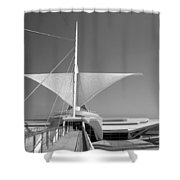 Mam Wings Spread B-w Shower Curtain