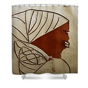 Mama 3 - Tile Shower Curtain