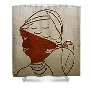 Mama 5 - Tile Shower Curtain