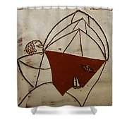 Mama 8 - Tile Shower Curtain