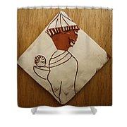 Mama 9 - Tile Shower Curtain