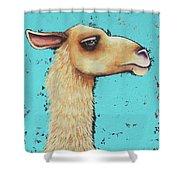 Mama Llama Shower Curtain