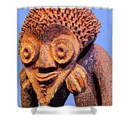 Mambila Figure Shower Curtain