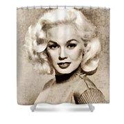 Mamie Van Doren, Vintage Actress And Pinup Shower Curtain