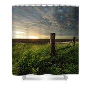 Mammatus Sunset Shower Curtain