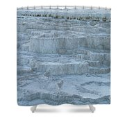 Mammoth Hot Springs Travertine Terraces One Shower Curtain