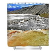 Mammoth Hot Springs1 Shower Curtain