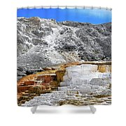 Mammoth Hot Springs3 Shower Curtain