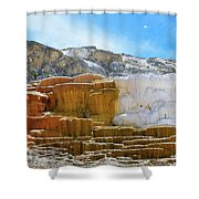 Mammoth Hot Springs4 Shower Curtain
