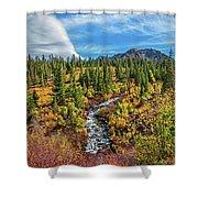 Mammoth Lakes Autumn Falls Shower Curtain