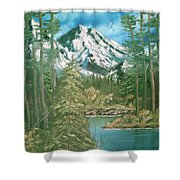 Mammoth Mountain Shower Curtain