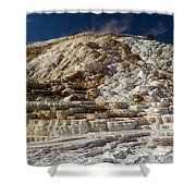 Mammouth Hot Springs Shower Curtain