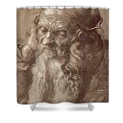 Man Aged 93 Brush Ink On Paper 1521 Shower Curtain