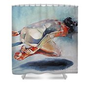 Man And Fish 5 Shower Curtain