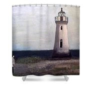 Man And Lighthouse Shower Curtain