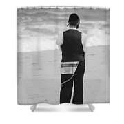 Man And The Sea Shower Curtain