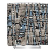 Man At The Lake Shower Curtain