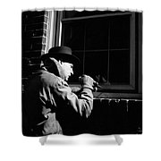 Man Breaking Into Building, C.1950s Shower Curtain