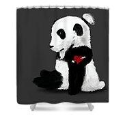 Man Bun Panda Shower Curtain