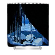 Man Cave Shower Curtain