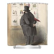 Man For A Showcase With Prints, Anonymous, 1810 - C. 1900 Shower Curtain