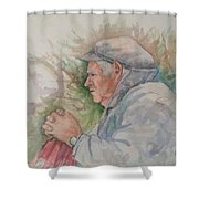 Man From Aran Shower Curtain