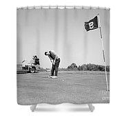Man Golfing, C.1960s Shower Curtain