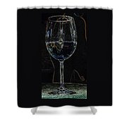 Man In A Glass Shower Curtain
